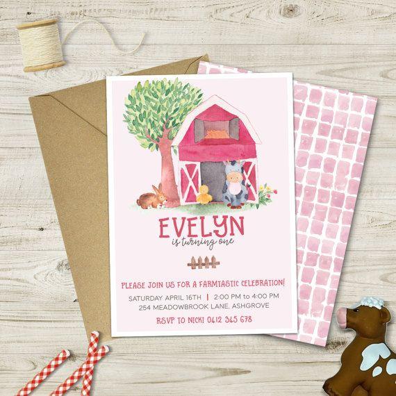 A farmtastic invitation for any tiny tot farm theme birthday parties