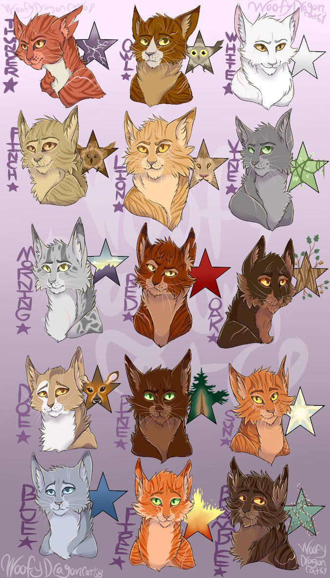 Thunderclan leaders this is amazing warrior cat names warrior cats clans warrior 3