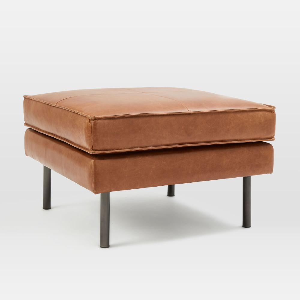 Axel Leather Ottoman Leather Ottoman Leather Footstool Leather