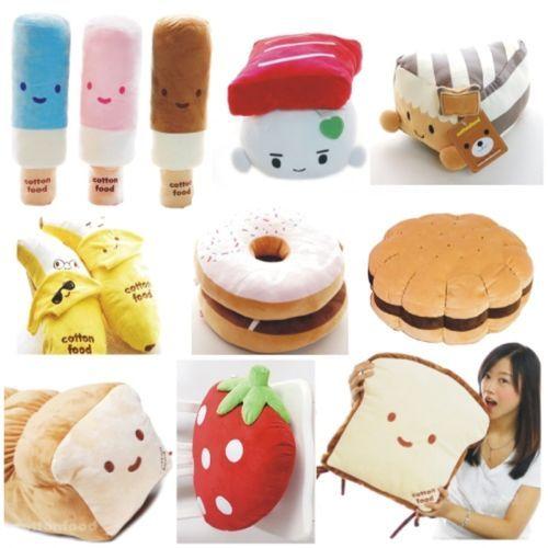 Diy No Sew Sushi Pillow: Japan Sushi Cushion Pillow Donut Various Food Shape   eBay    ,