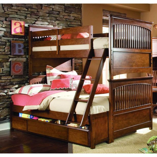 Bedroom Red Bunk Bed Twin Over Full Twin Over Full Bunk Bed L Shaped