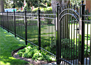 Ornamental Fencing Iron Fence Wrought Iron Fence Installation In Owen Sound Ontario Iron Fence Panels Backyard Fences Fence Landscaping