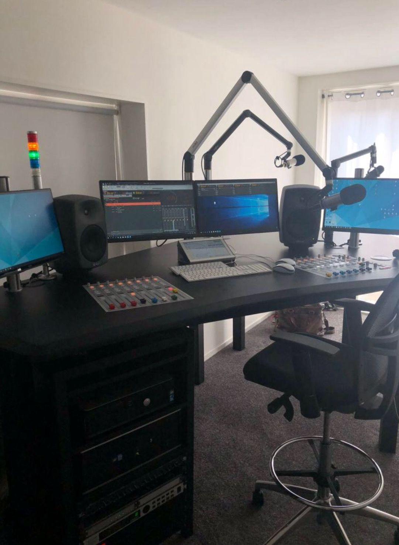 Pin By Paul On Radio Studio S Radio Station Desk Setup Radio