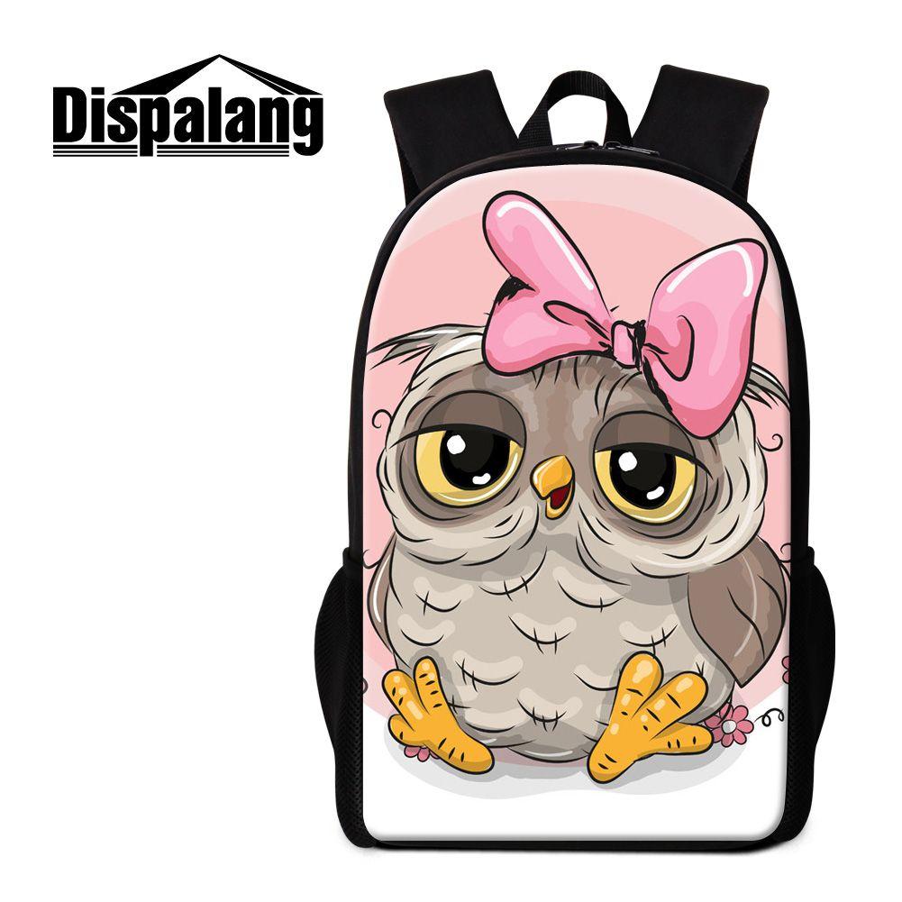 f95eacfe4f Dispalang cute cartoon owl school backpacks for teenage girls new fashion  women 16 inch big mochilas