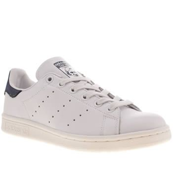 9582bd96780c8 Women s White   Navy Adidas Stan Smith Trainers