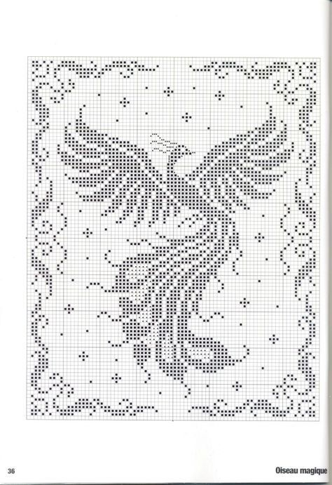 Phoenix rising: This pattern is good for filet crochet or net ...