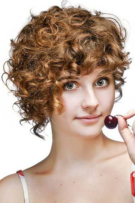 Femme Andro Queer Ringlet Bangs Curly Asymmetrical Haircut From