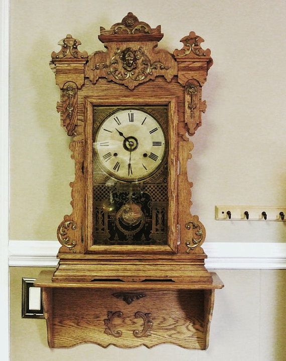 Time To Dress By Catherine Boudoir On Etsy Vintage Clock Antique Wall Clock Old Clocks