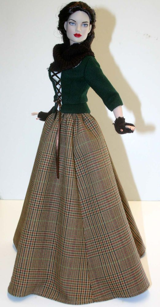 """Outlander Scottish Claire Outfit for 16"""" Tyler Dolls Tonner #DesignsbyJude"""