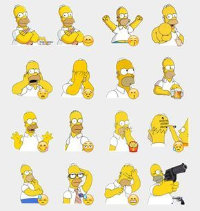 Homer Simpson Stickers Set Telegram Stickers Tatuaje De Los Simpsons Personajes De Los Simpsons Homero Simpson