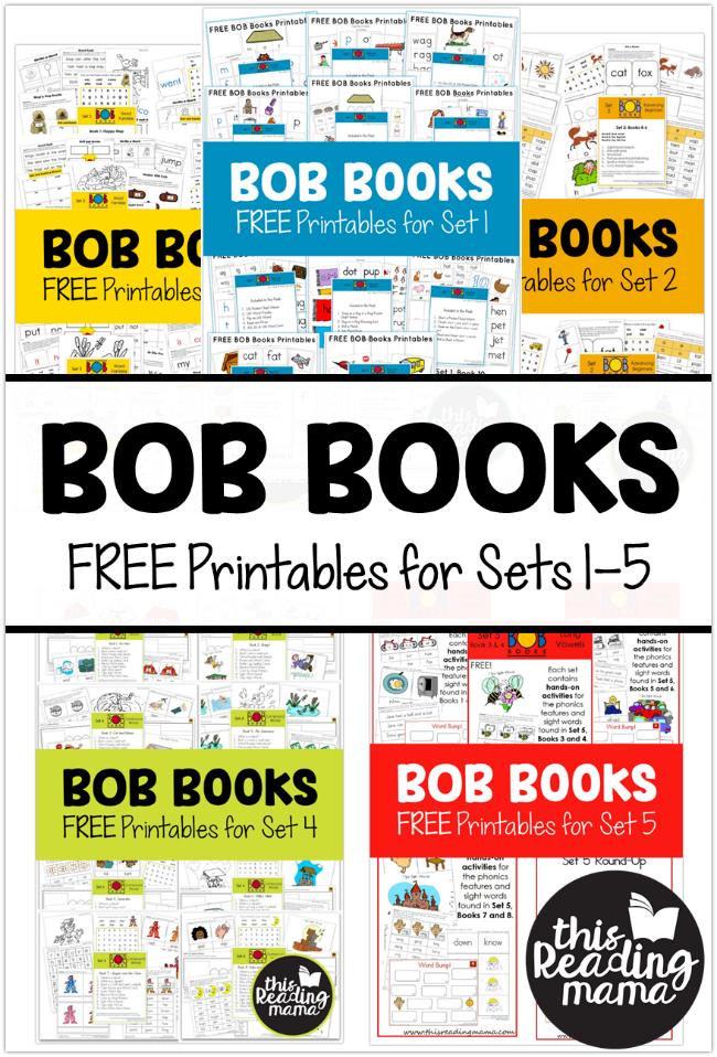 FREE Set 1 BOB Books Printables | Kind, für Kinder und Grafiken
