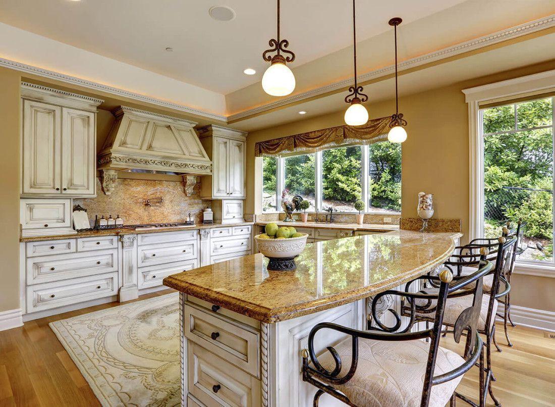 Inspirierende Gelben Flusses Granit Küchenarbeitsplatten #Badezimmer  #Büromöbel #Couchtisch #Deko Ideen #Gartenmöbel