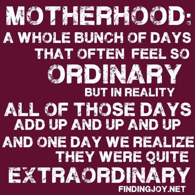 Embrace been a mother everyday! #Motherhood #mum