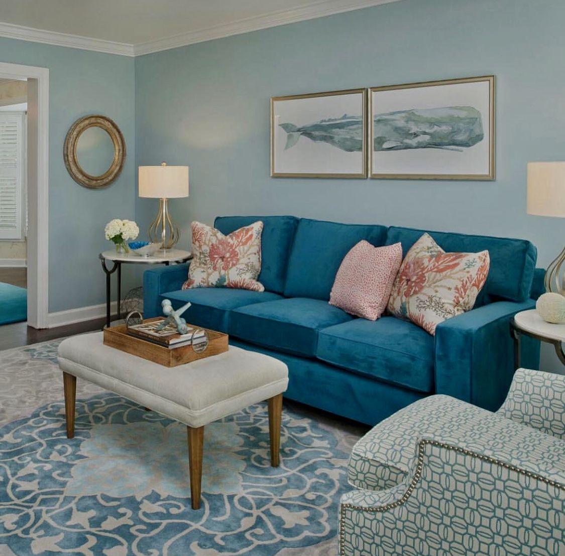 Teal Sofa Teal Living Rooms Teal Sofa Living Room Blue Living Room Decor #teal #sofa #living #room #decor