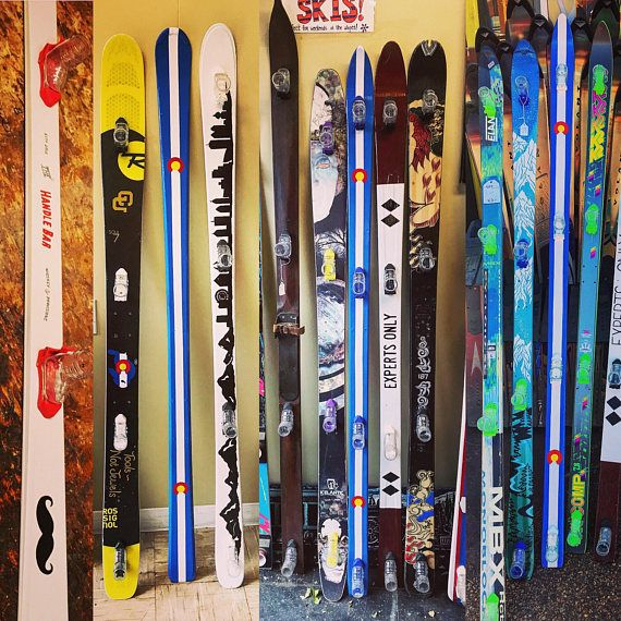 Premium Hand Painted Custom Shot Skis With Removable