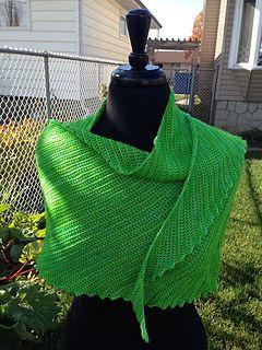 Mostly Harmless Free Crochet Asymmetric Triangle Shawl Pattern By