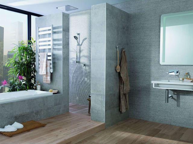 Douche à l\u0027italienne  12 modèles tendance Towel radiator, Chrome