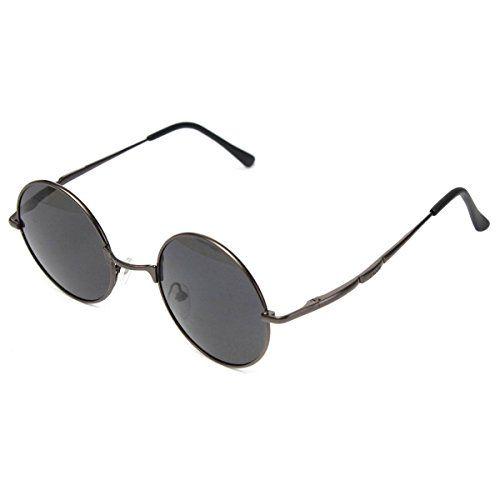 Sonnenbrille Brille Brillen Pilotenbrille Sportbrille Silber Herre UV 400 Schütz uMShs