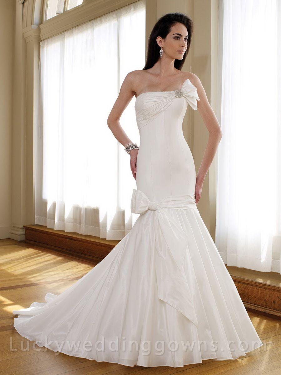 Mermaid Trumpet Strapless Taffeta Asymmetrically Ruched Bridal Wedding Gown Online Wedding Dress Wedding Dresses Sweetheart Bridal Gown [ 1200 x 900 Pixel ]