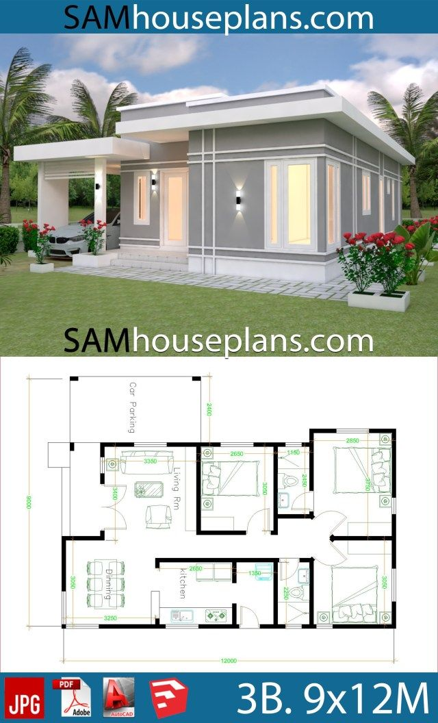 House Plans 9x12 With 3 Bedrooms Sam House Plans Affordable House Plans House Plan Gallery Architectural House Plans