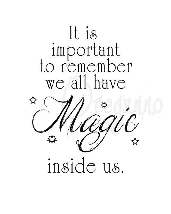 Harry Potter Quote Printable We All Have Magic Inside Us Wall Art