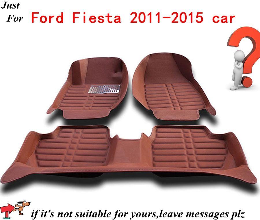 Car Carpet Anti Slip Floor Mats For Ford Fiesta 2011 2015 Automobile Floor Mat Cover Black Grey Brown Beige Choices High Q Car Carpet Brown And Grey Floor Mats