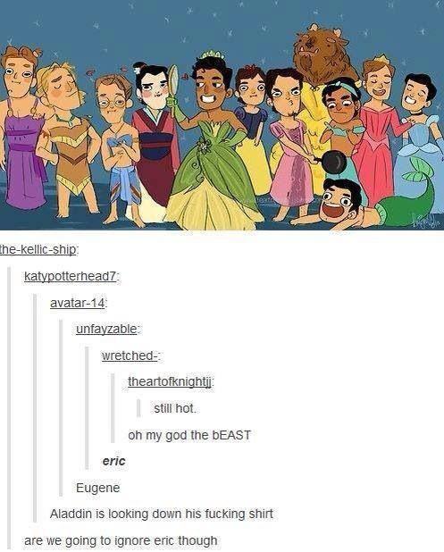 Disney Princes as their princess counterparts. Toooo funny!!