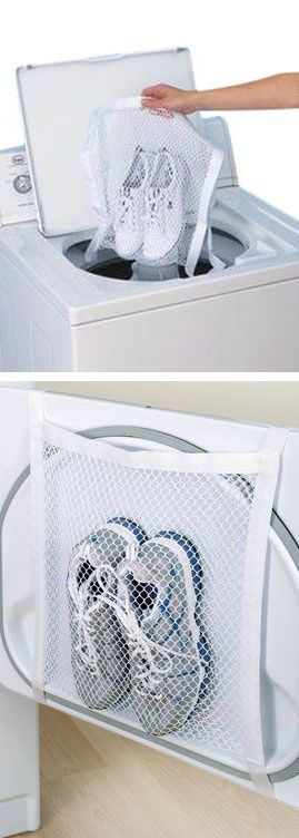 Sneaker Wash & Dry Bag // #timesaving #workout #genius