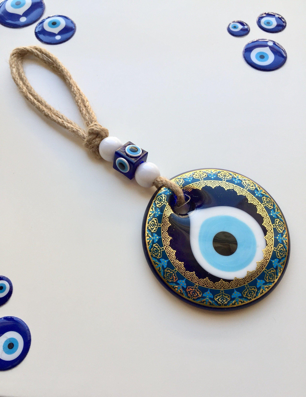 Evil Eye Wall Hanging Evil Eye Door Hanger Turkish Bead Turkish Eye Protection Amulet Nazar Talisman Home Decor Protection Amulet Amulet Evil Eye