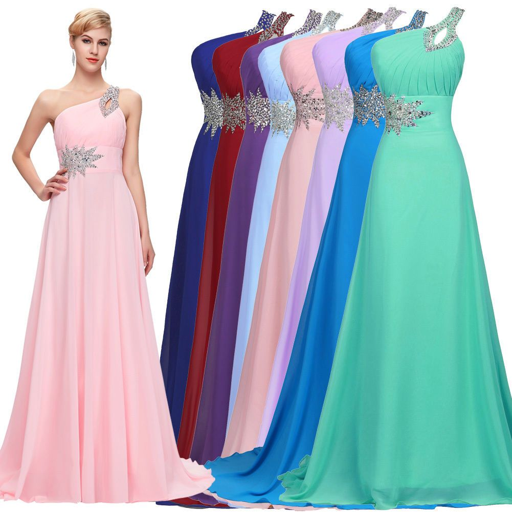 Grace karin one shoulder evening formal party gown prom wedding