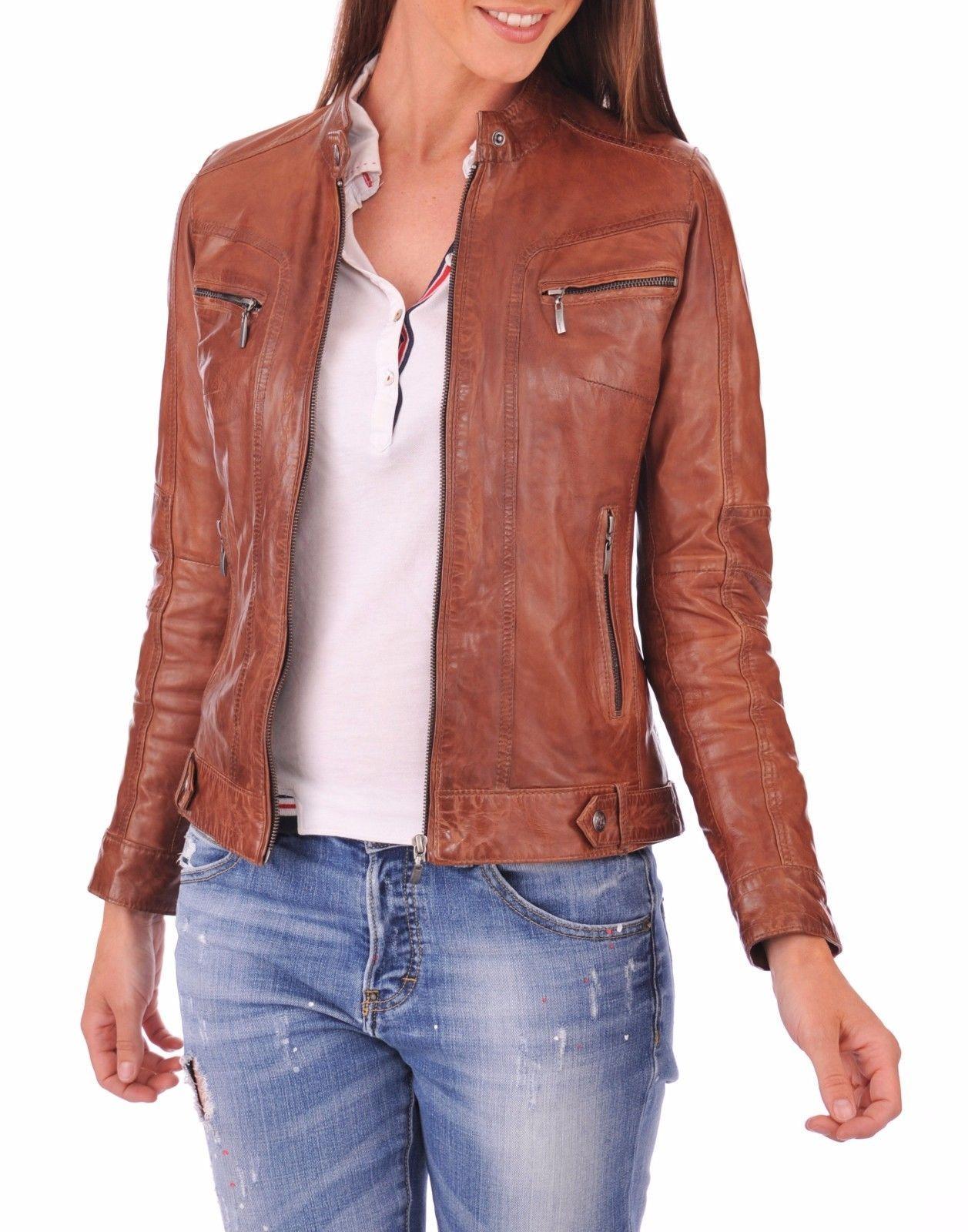 Details about New Vintage Women Slim Biker Motorcycle Soft