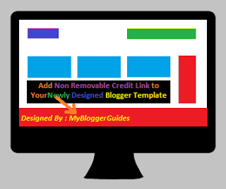 add complicated non removable credit links to blogger template