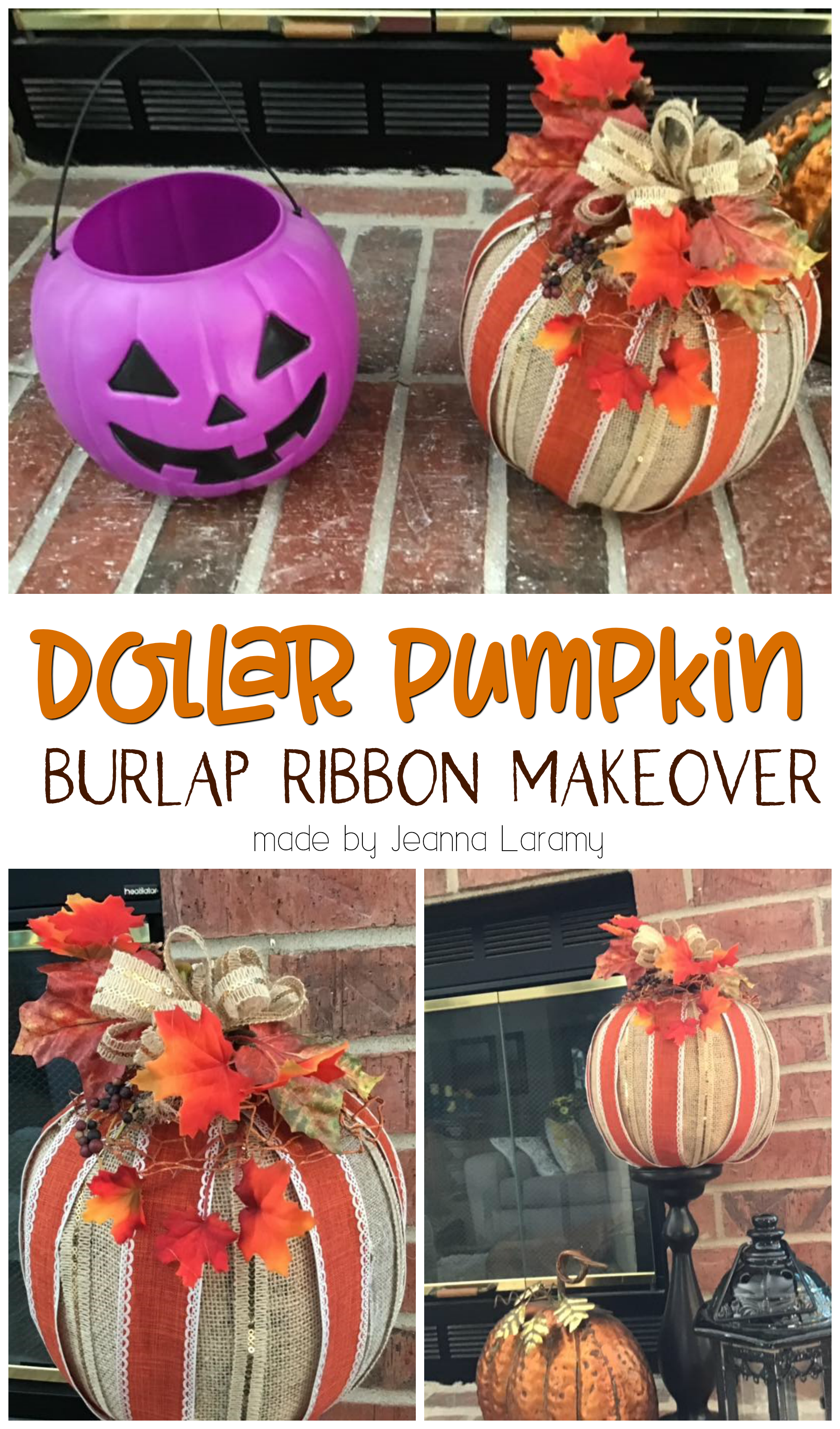 - Fast Shipping 1 Foam Carvable Pumpkin Decoration Halloween // Thanksgiving