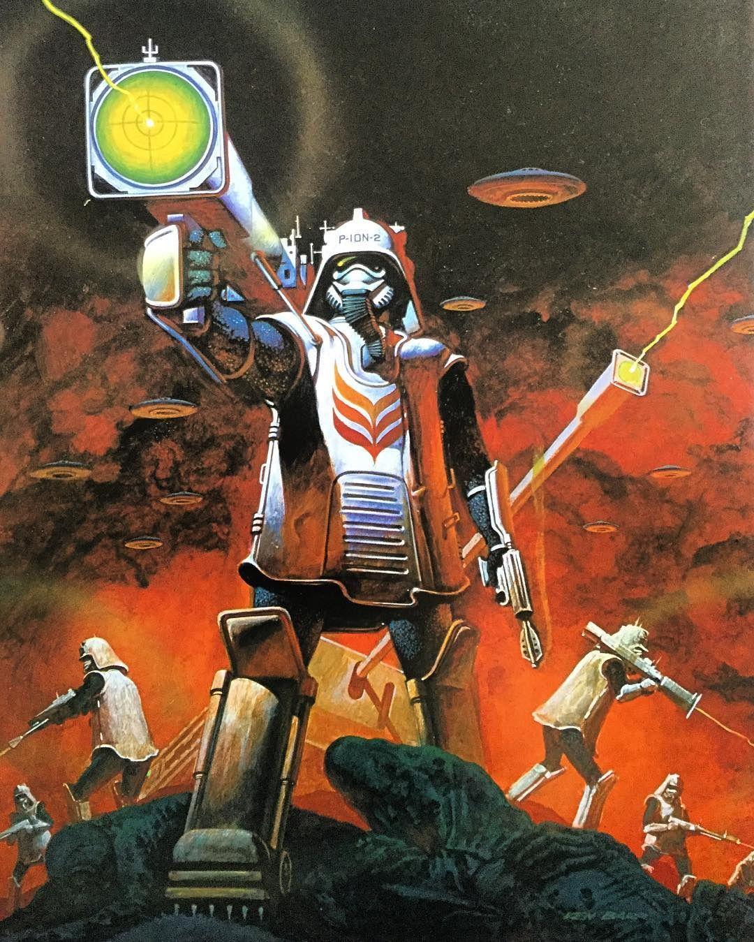 Vintage Sci Fi Art Added A New Photo: Retroscifiart: Art By Ken Barr From The Alien World: The