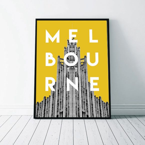 Melbourne wall art print | Melbourne, Buy gifts online and Homewares ...