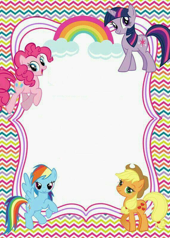 Pony Birthday Banner Invitaciones De Cumpleaños