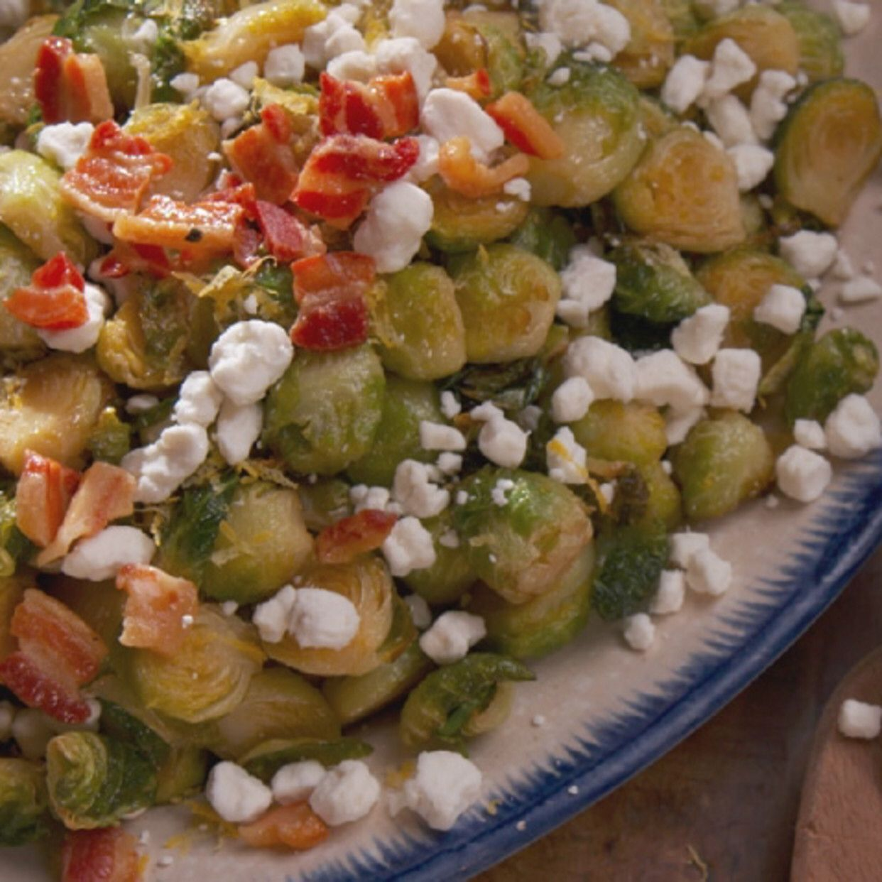 Roasted Brussels Sprouts with Crispy Pancetta Recipe