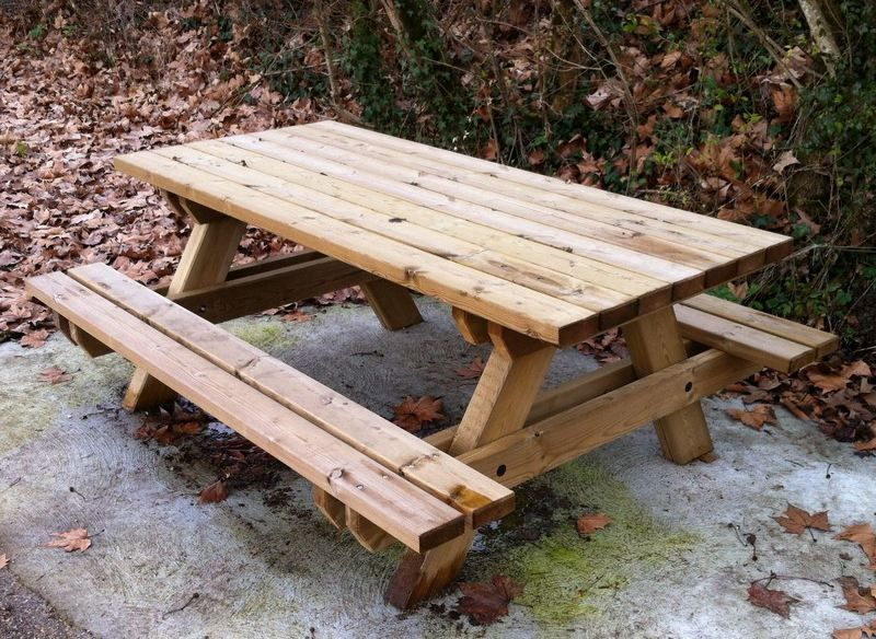 Table Pique Nique Forestiere Table Forestiere Deco Bois
