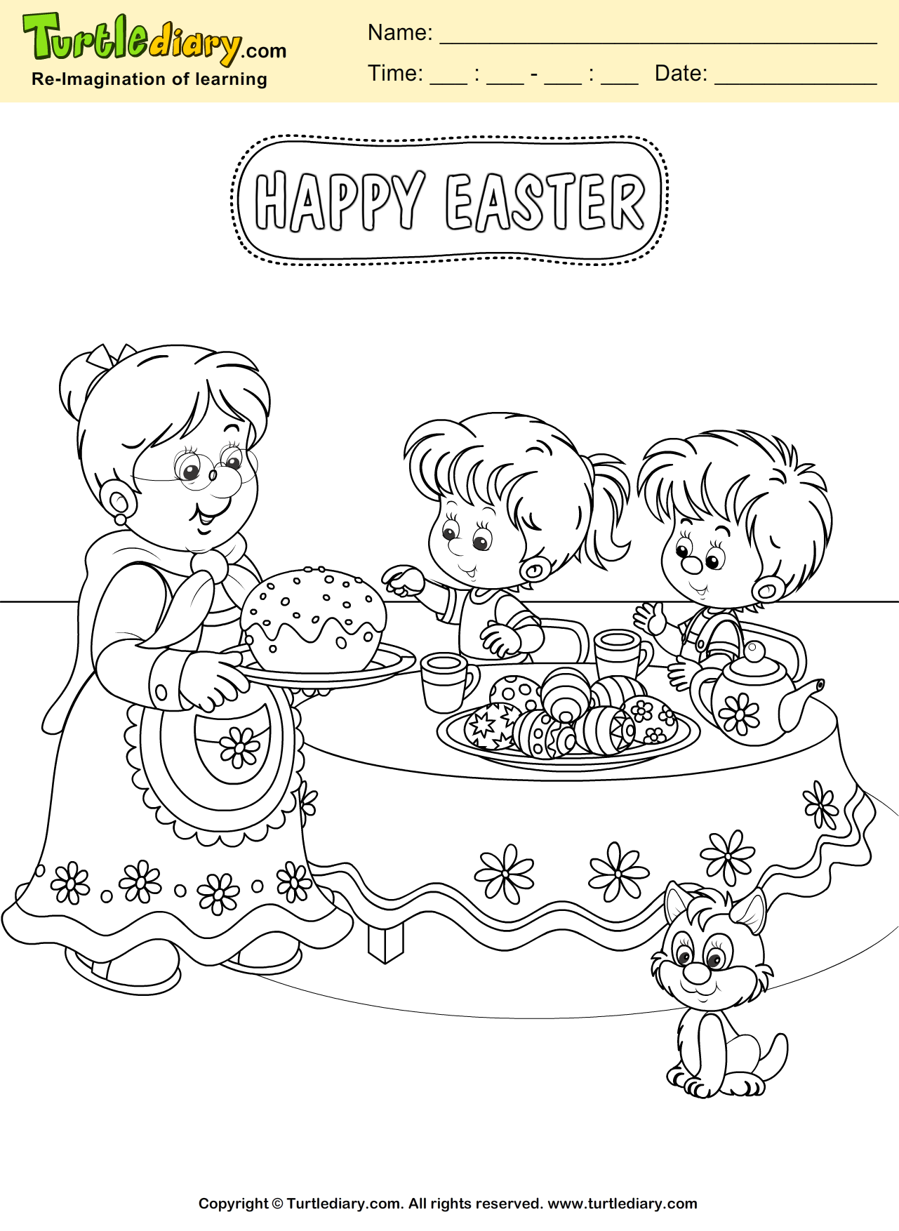 Easter Family Coloring Page Coloring Sheet Family Coloring Pages Easter Coloring Pages Coloring Pages