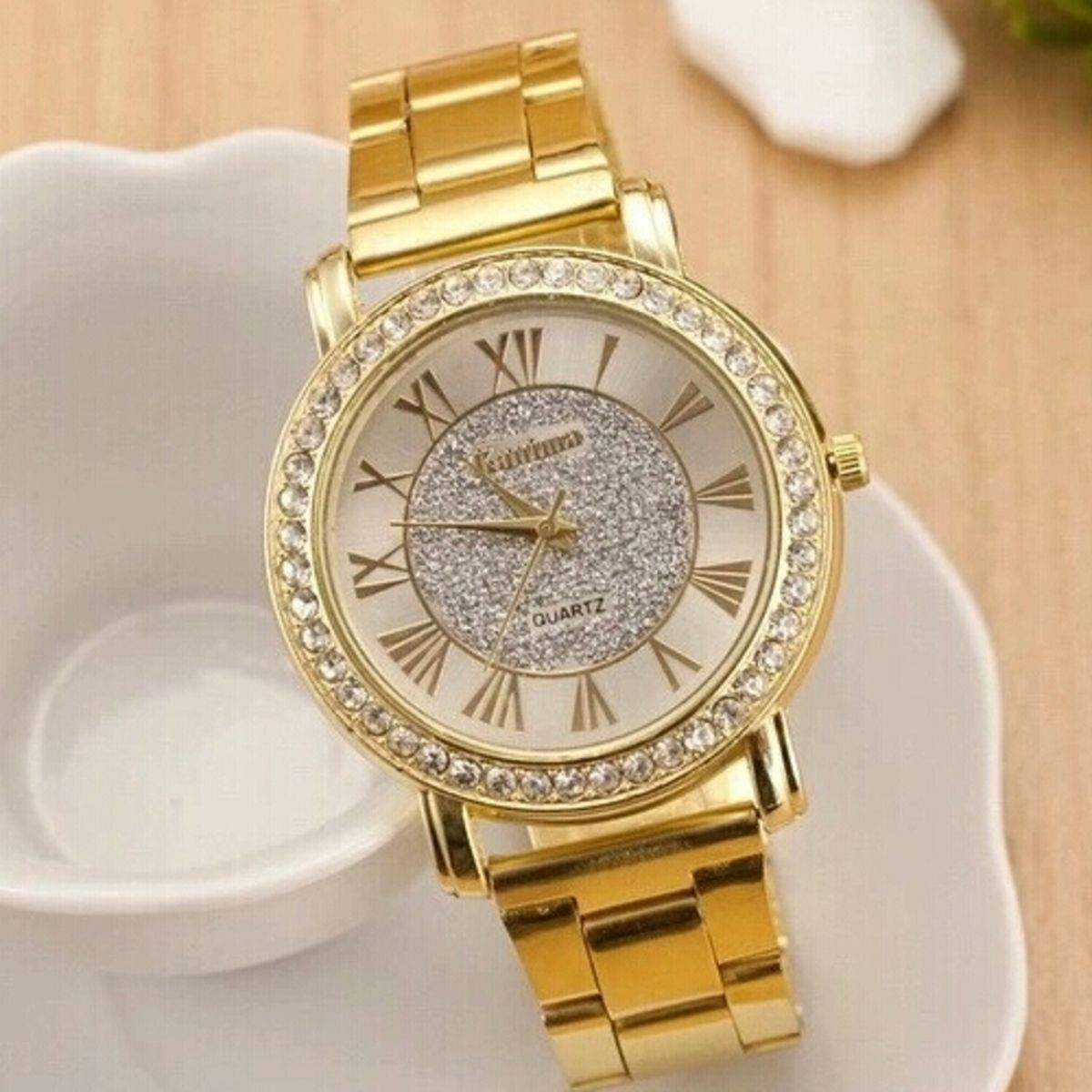 de0a5ece52e Relógio Feminino Kanima - Aço Metal Inox Quartz Comprar online relógio da  Marca Kanima Importado da China no Brasil