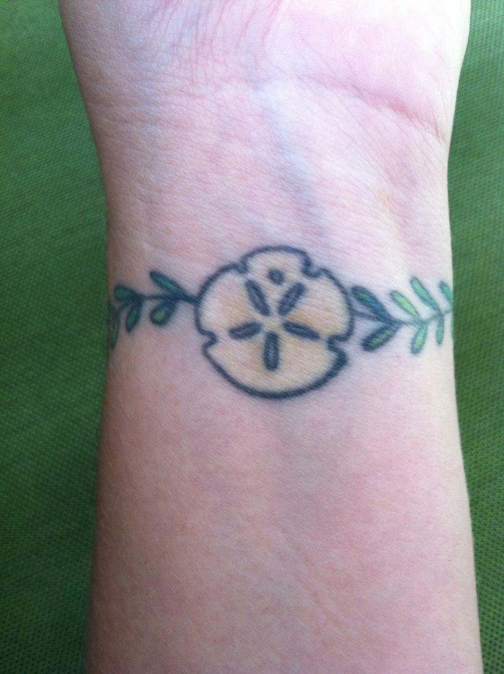 Seaweed Tattoo Wrist Tat Of Sand Dollar W Seaweed That Wraps