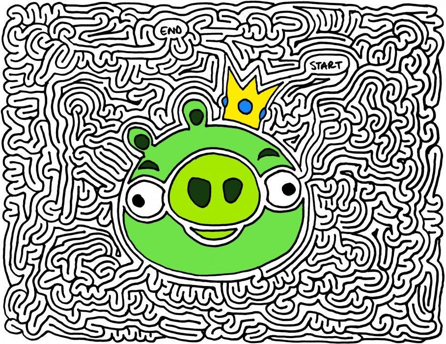 Angry Birds, Maze, Maze