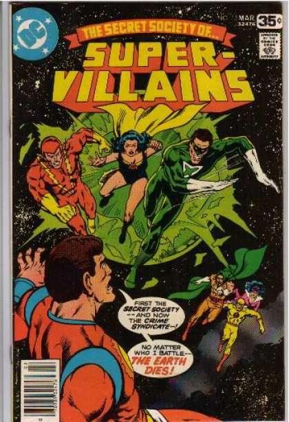 Super Villians Bob McLeod, Richard Buckler DC Comics Comic Book Cover
