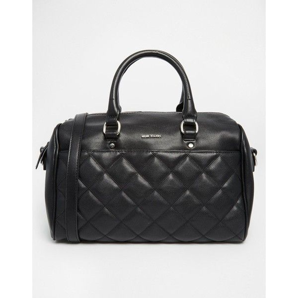 Bag By Mango Leather Look Outer Quilted Design Twin Carry Handles Zip Top Opening Inner Pocket Optional Shoulder Strap Wipe With A Soft Cloth
