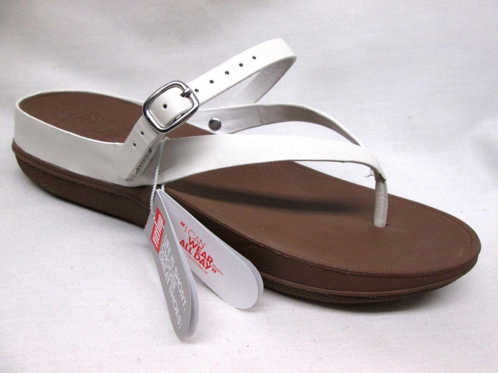960e098a772ef2 Fitflop Flip Back-Strap Sandals Womens Urban White