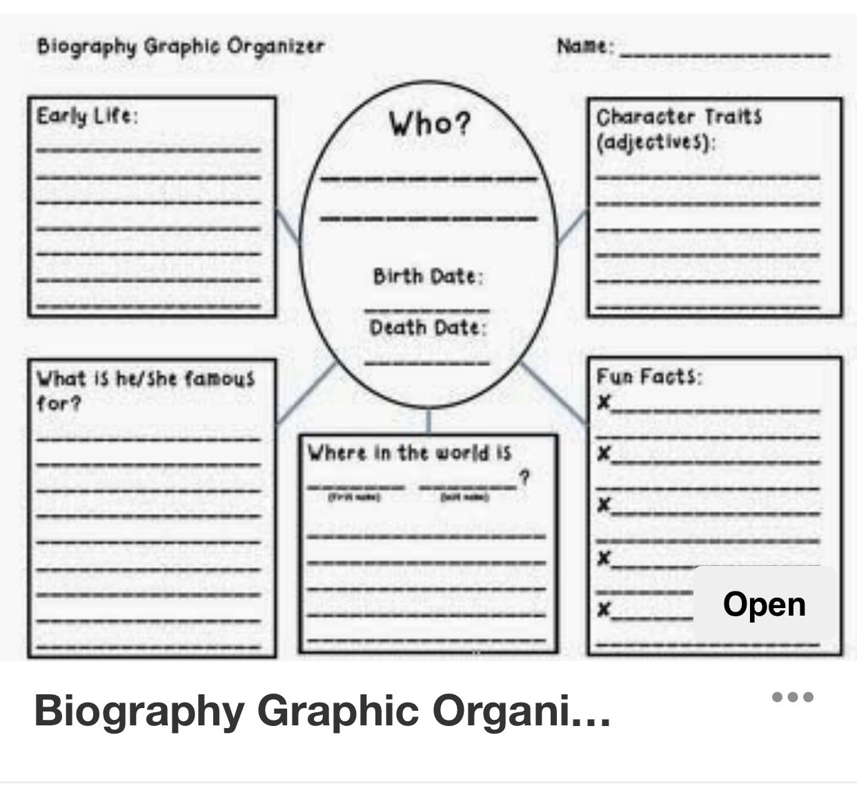 small resolution of Comprehension Worksheets Biographies   Printable Worksheets and Activities  for Teachers