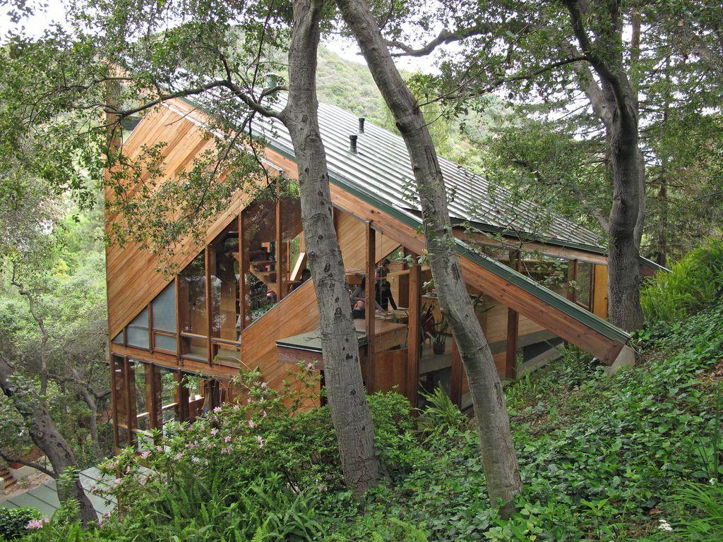 Walstrom House John Lautner Wooden House Design Architecture
