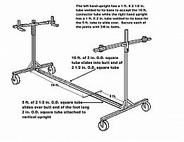 Car Rotisserie Homemade Plans For A Car Rotisserie Construction Materials Include 3 16 Cars