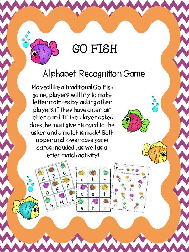 Go Fish Alphabet Recognition Game in 2020 Alphabet