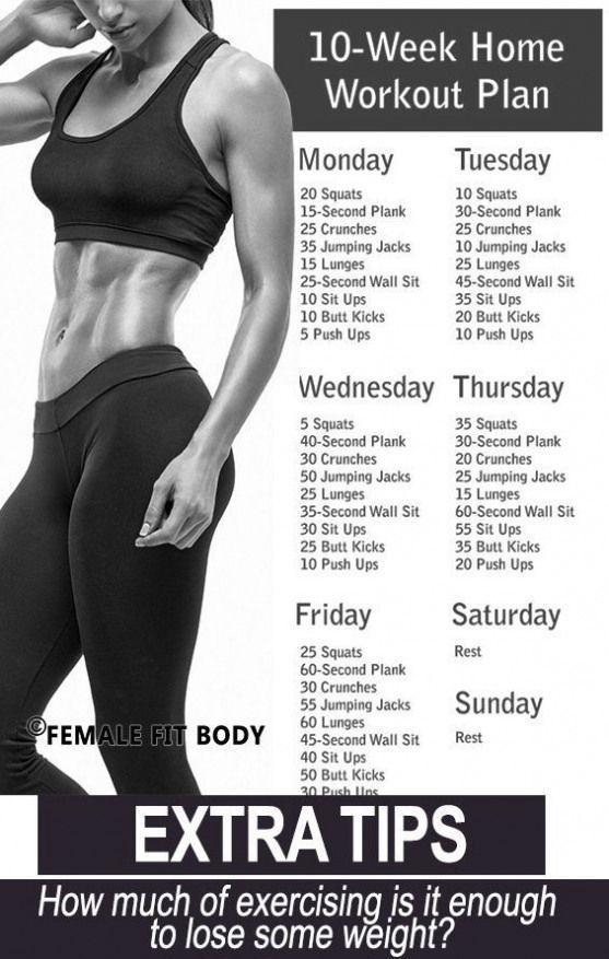 Trainingsroutinen für Frauen zu Hause, um Gewicht zu verlieren